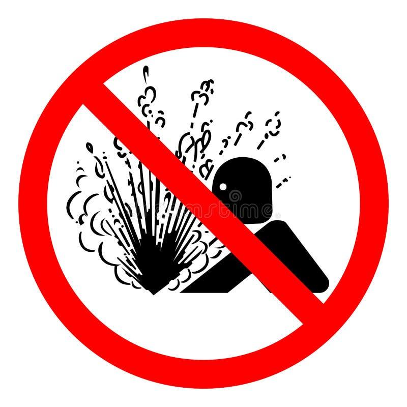 伤害危险压力标志标志,传染媒介例证,在白色背景标签的孤立爆炸发行  EPS10 皇族释放例证