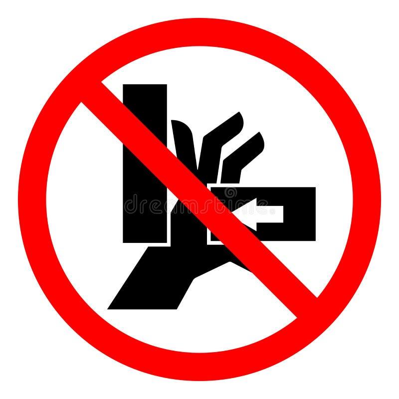 伤害危险手击碎从正确的标志标志,传染媒介例证,在白色背景标签的孤立的力量 EPS10 皇族释放例证