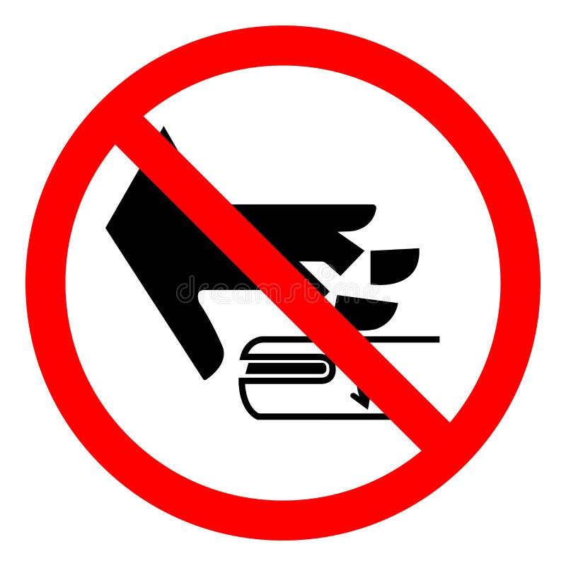 伤害危险转轴标志标志,传染媒介例证,在白色背景标签的孤立 EPS10 库存例证