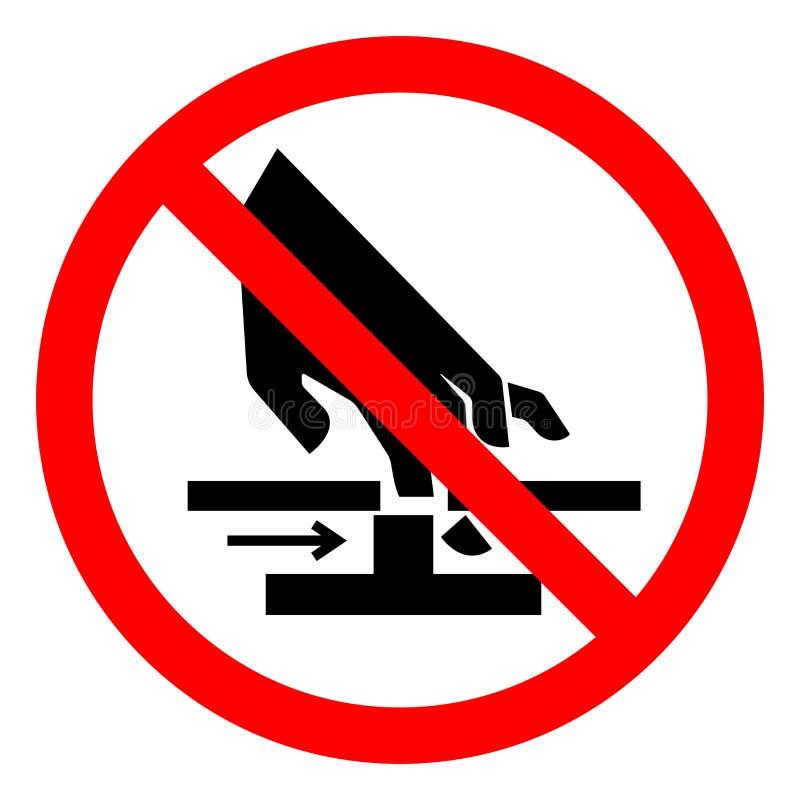 伤害手运动机件标志标志,传染媒介例证,在白色背景标签的孤立危险切口  EPS10 向量例证