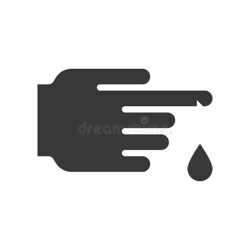 伤害有血液小滴、医疗保健和医疗相关s的手指 皇族释放例证