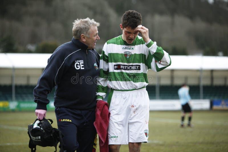 伤害足球 库存图片