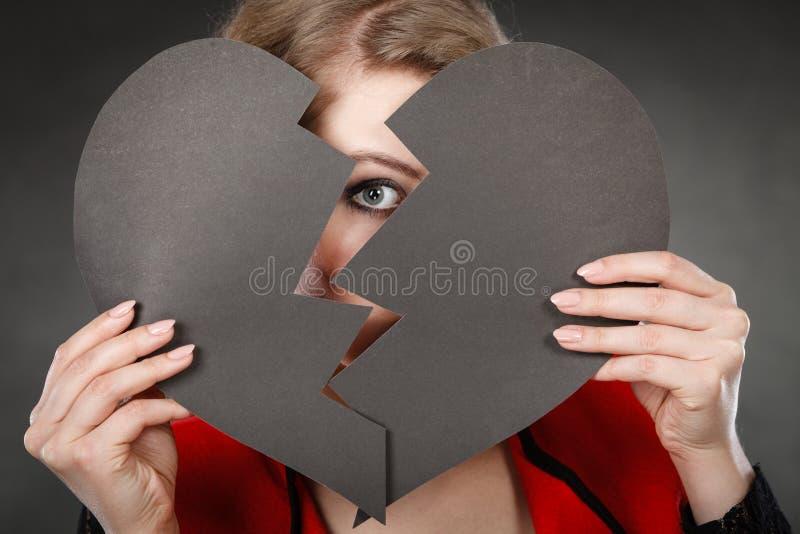 伤心包括的年轻沮丧的妇女 库存图片