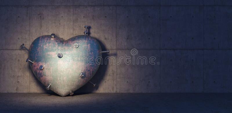 伤心或心脏病学疾病概念3d回报 皇族释放例证