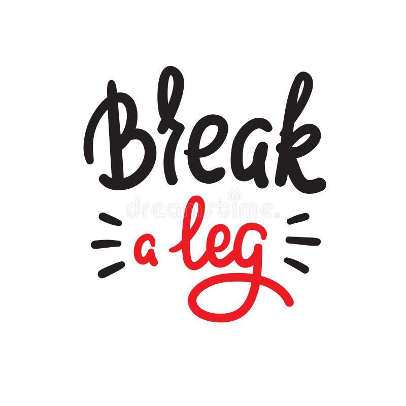 伤腿-简单启发和诱导行情 英国成语,在上写字 青年俗话 向量例证