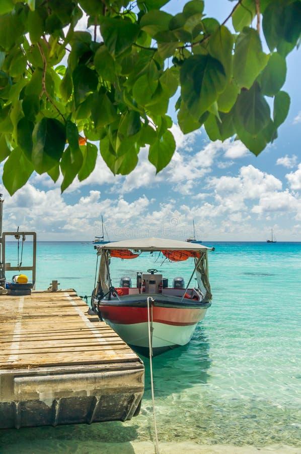 伦吉拉环礁环礁,法属玻里尼西亚 免版税库存照片