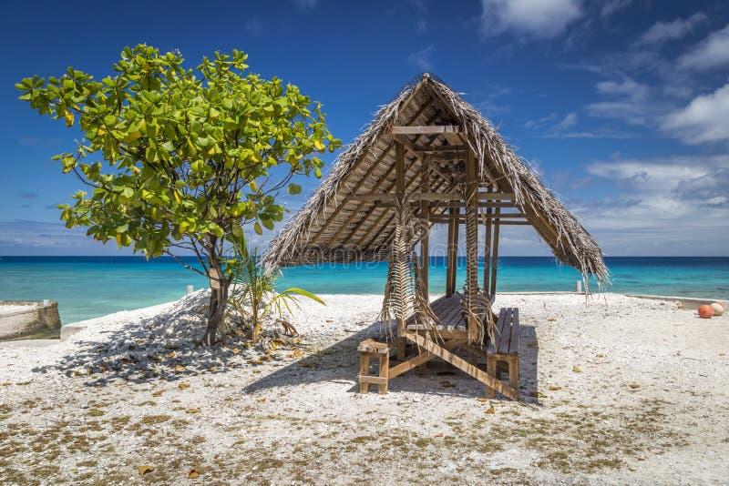 伦吉拉环礁环礁-法属玻里尼西亚 免版税库存图片