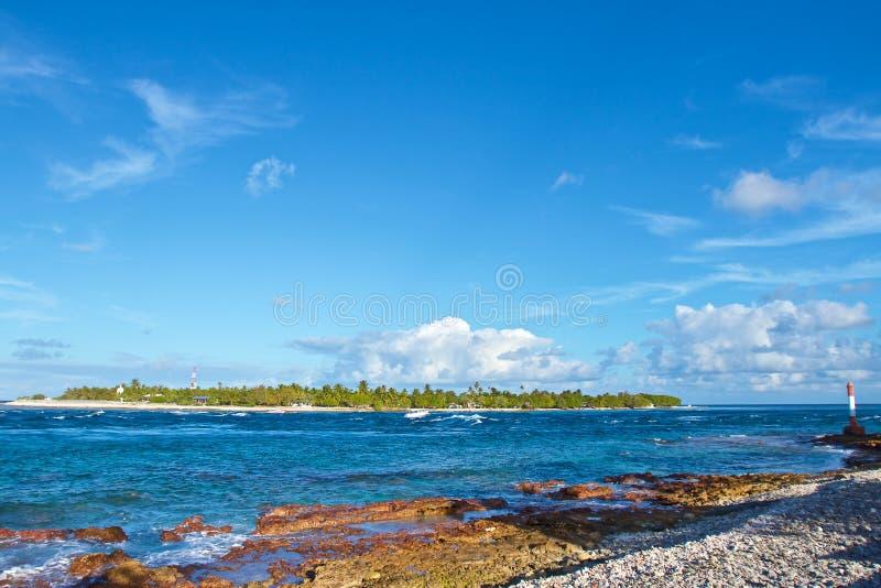 伦吉拉环礁环礁 库存照片