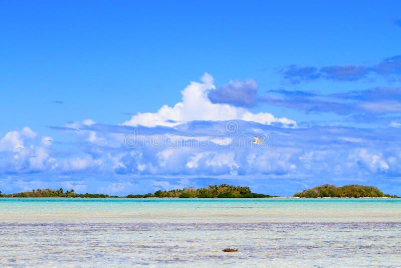 伦吉拉环礁环礁 免版税库存图片