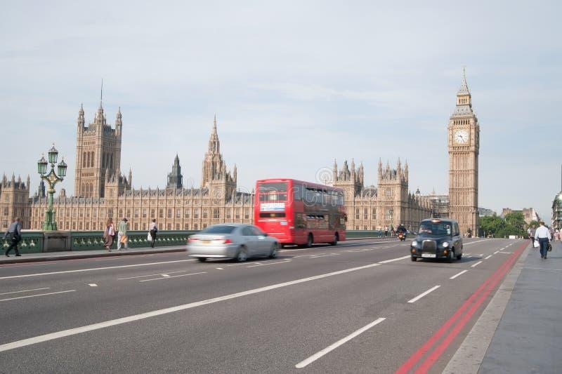 伦敦业务量 库存照片