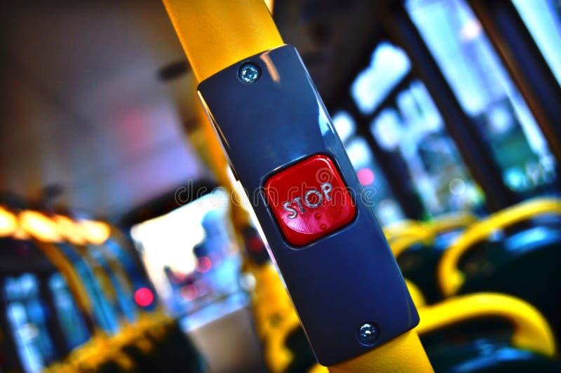 伦敦公共汽车站按钮1 库存图片