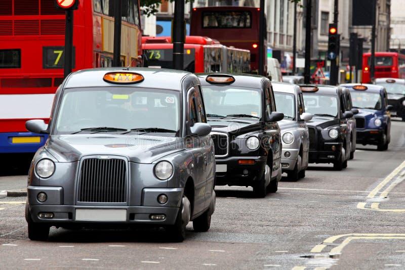 伦敦出租汽车 免版税库存照片