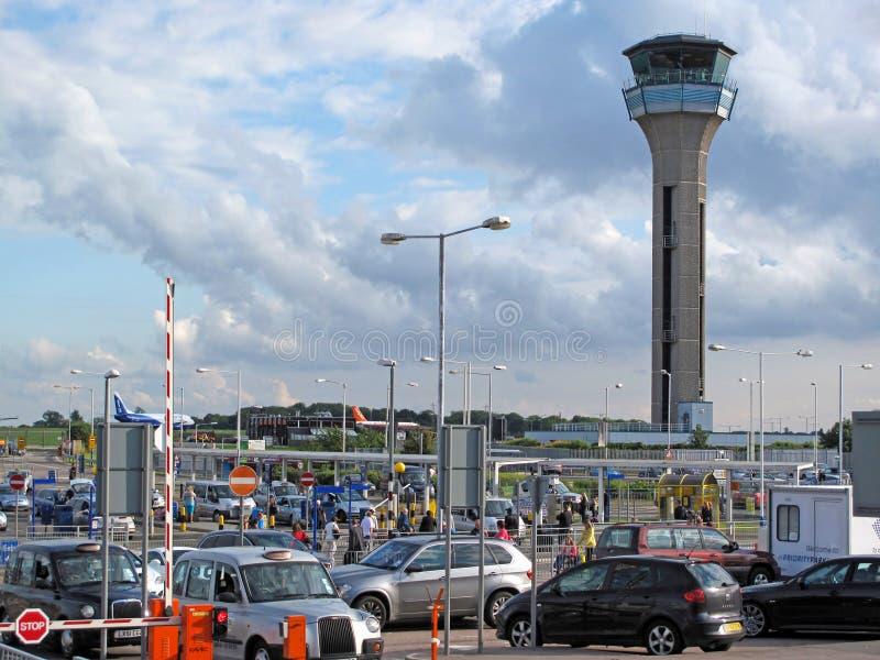 伦敦卢顿机场 免版税库存照片