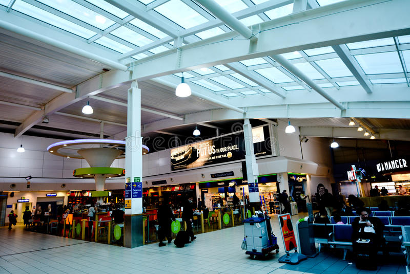 伦敦卢顿机场 免版税库存图片
