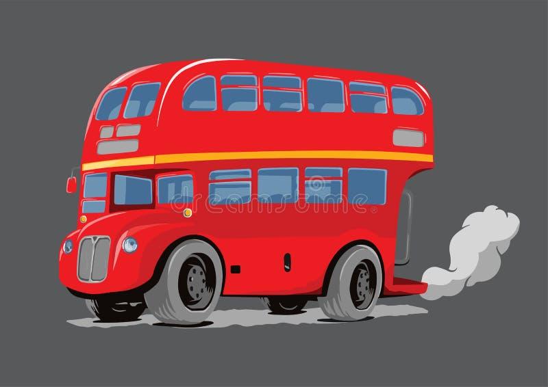 伦敦双层公共汽车红色 库存例证