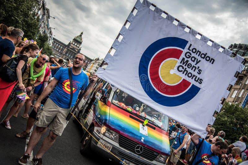 伦敦同性恋者的合唱 图库摄影