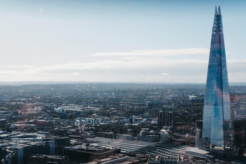 伦敦和碎片,最高的大厦在城市 免版税库存图片