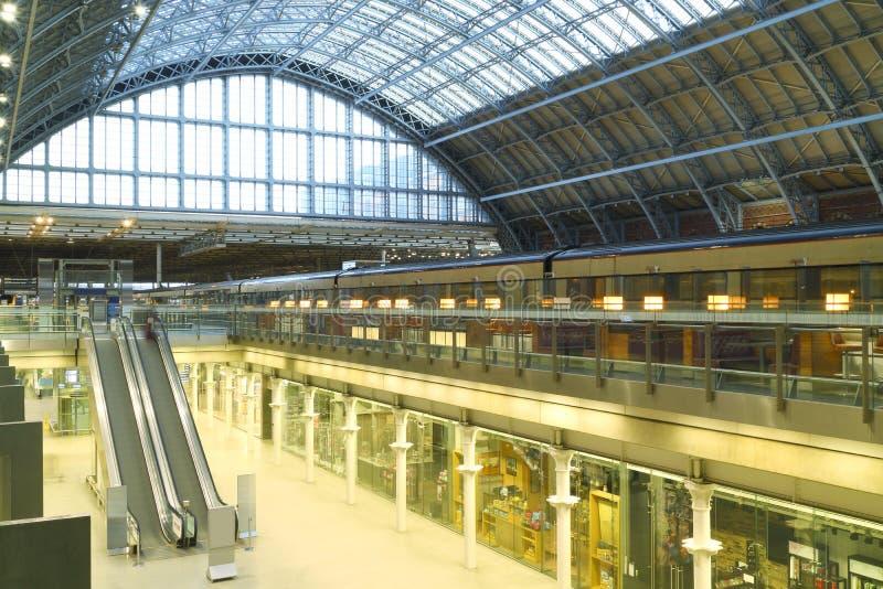 伦敦国际欧洲之星火车站 库存照片