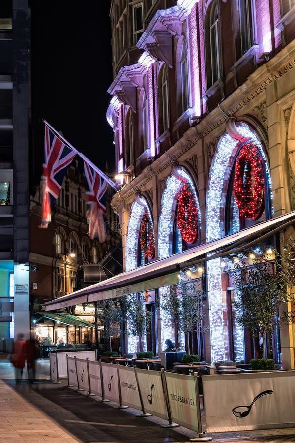 伦敦圣诞灯 库存图片