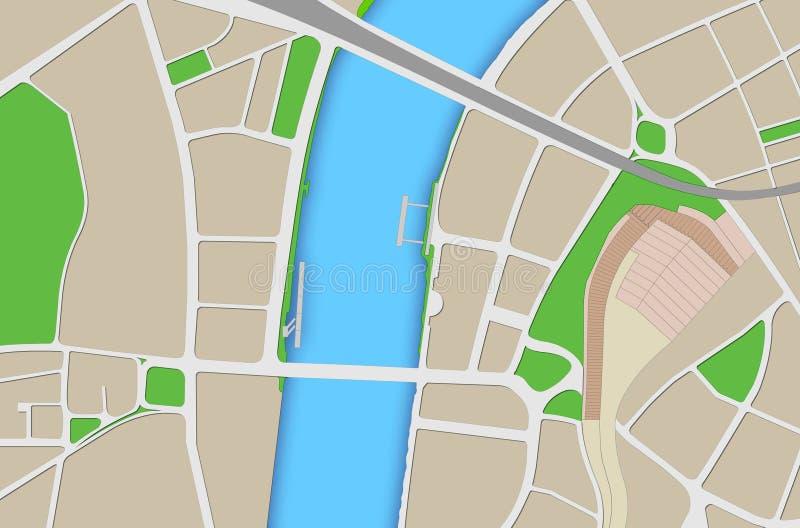 伦敦地图 皇族释放例证