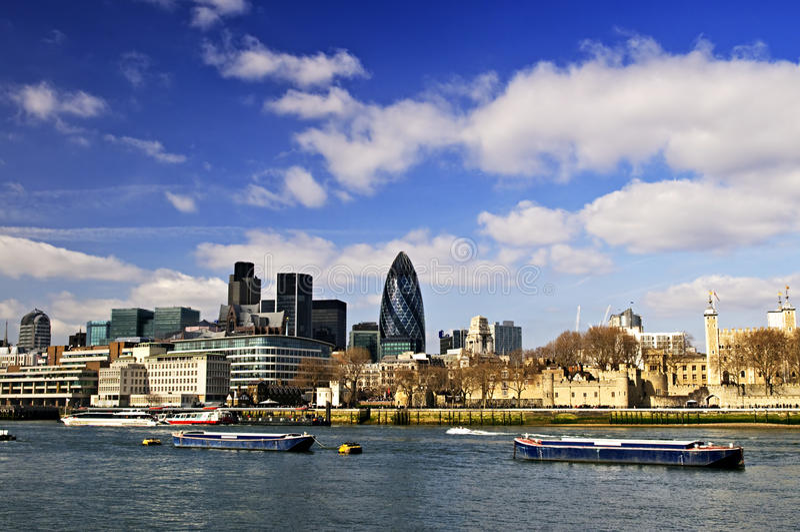 伦敦地平线塔 图库摄影