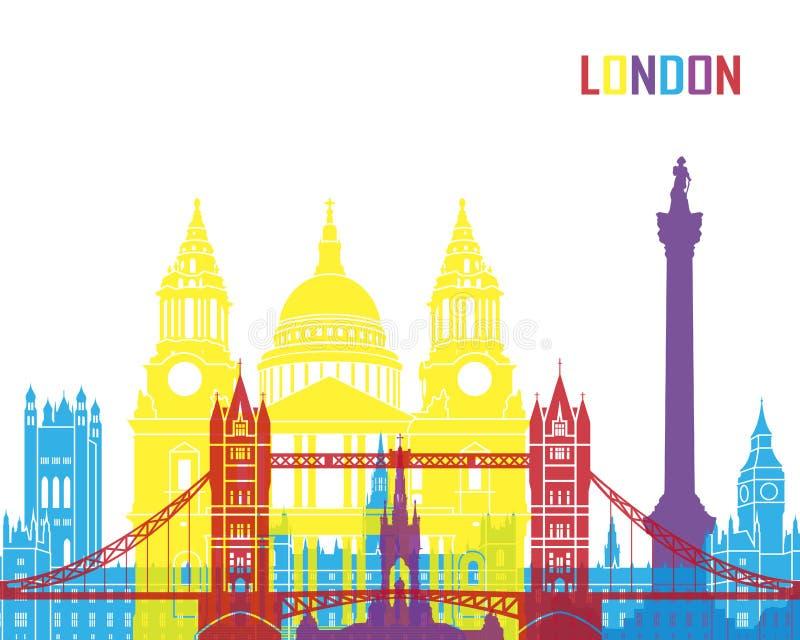 伦敦地平线流行音乐 库存例证