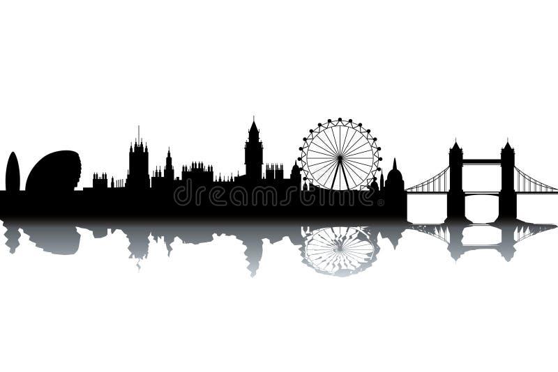 伦敦地平线 向量例证