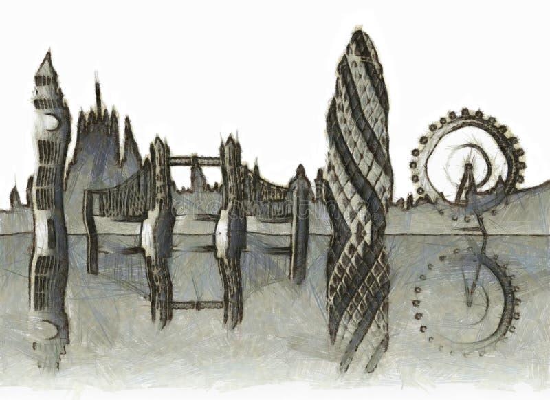 伦敦地平线 皇族释放例证