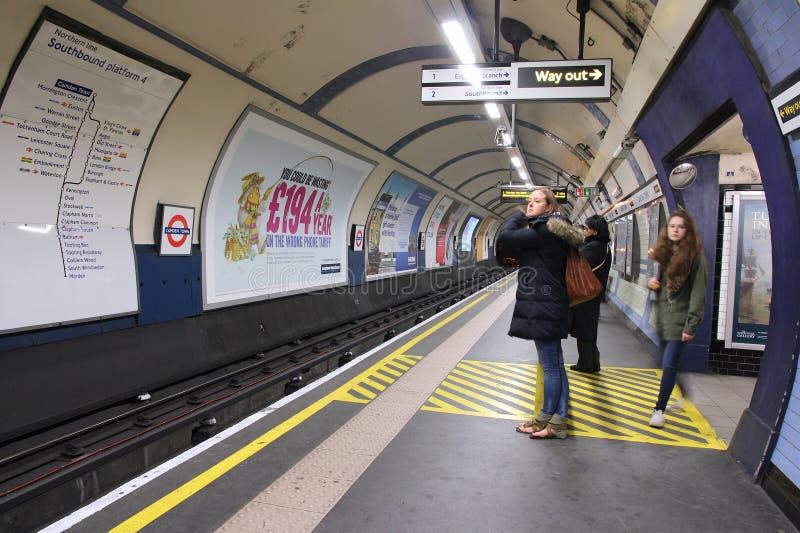 伦敦地铁站 免版税图库摄影