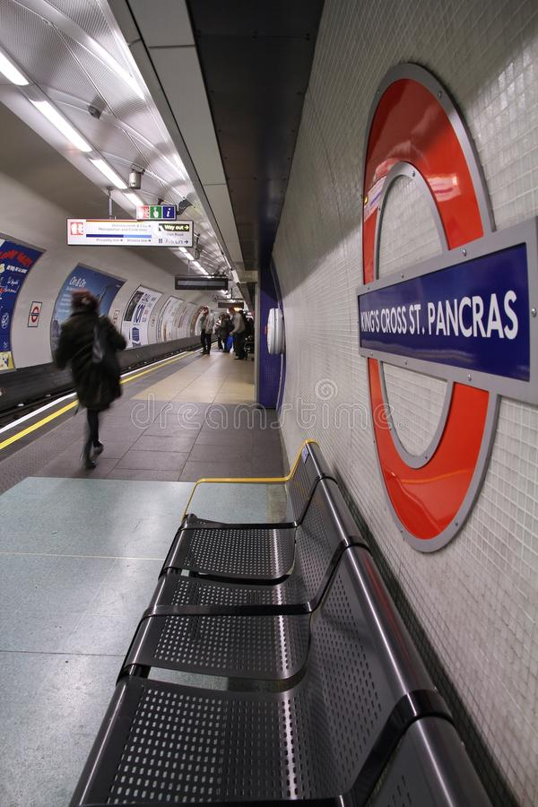伦敦地铁驻地 库存图片