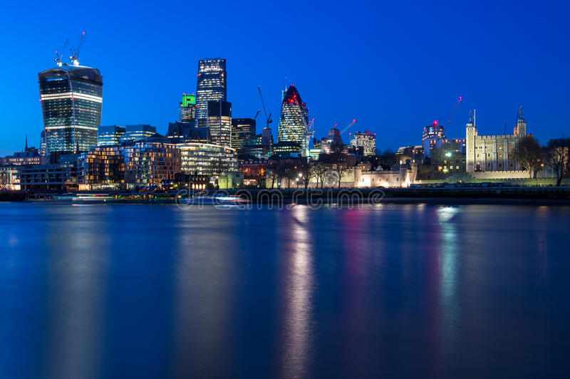 伦敦塔和伦敦市,英国 库存图片