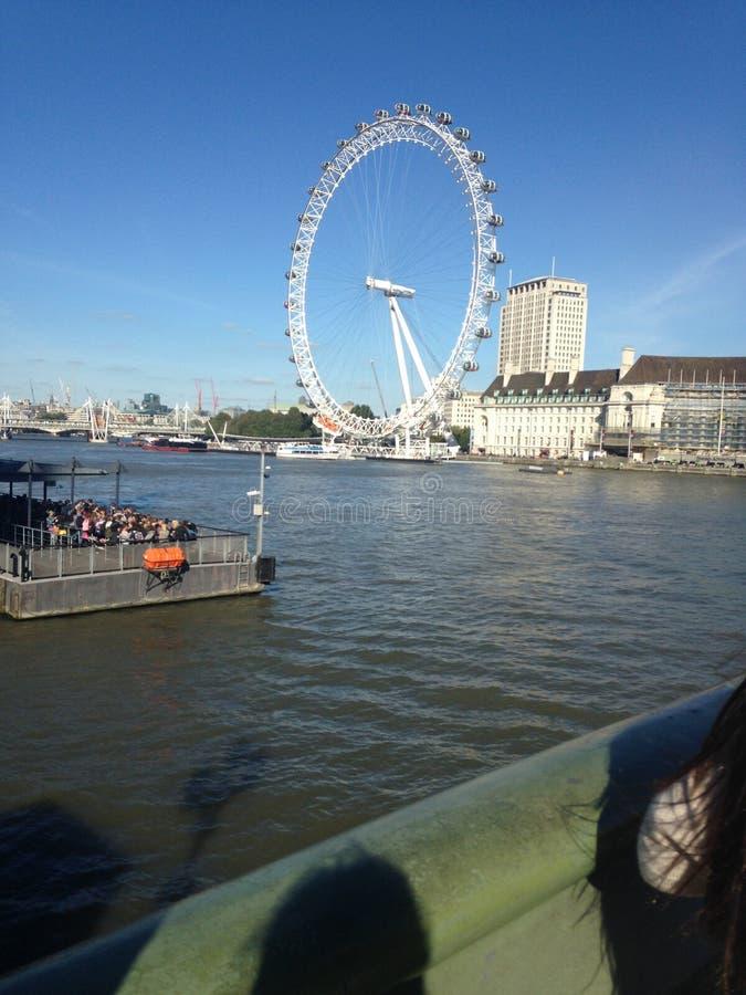 伦敦大眼睛 免版税库存照片
