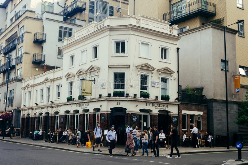 伦敦威尔顿路彭蒙惠酒吧 免版税图库摄影