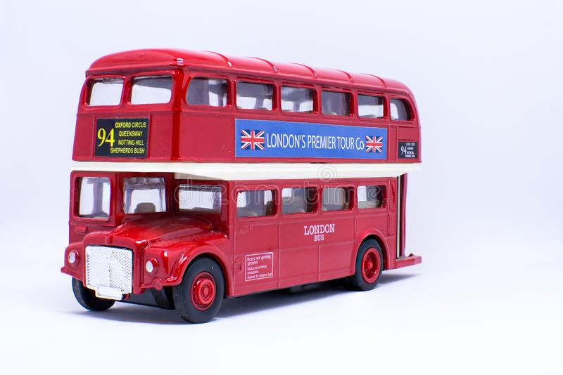 伦敦小室玩具 库存照片