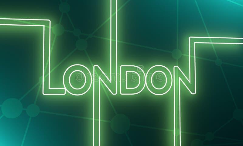 伦敦市名字 向量例证