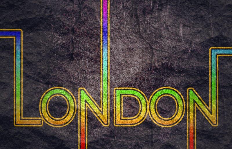 伦敦市名字 皇族释放例证