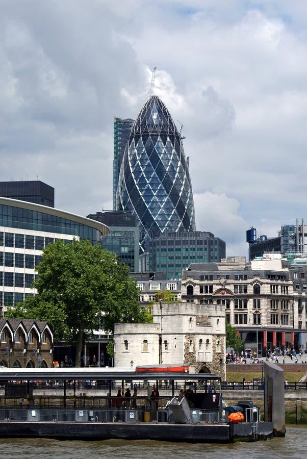 伦敦市商业区地平线 免版税库存照片