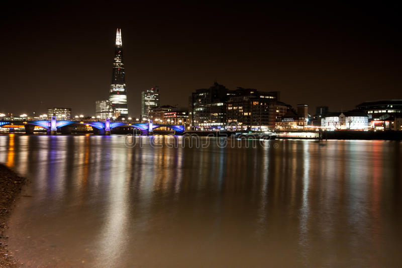 伦敦市地平线 库存照片