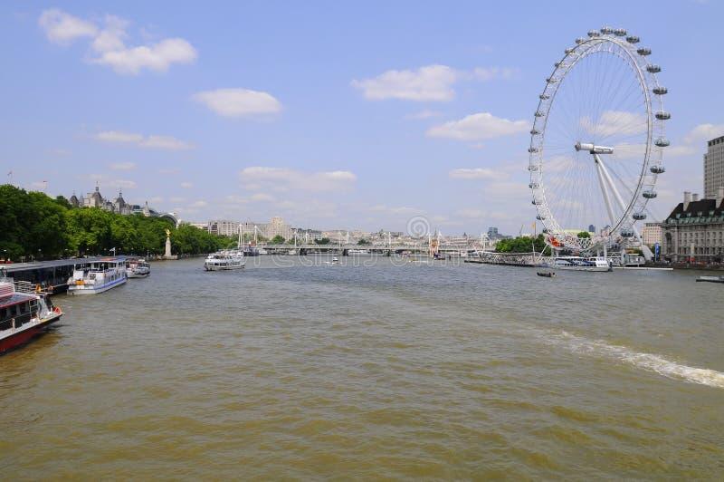 伦敦市视图。 免版税库存照片