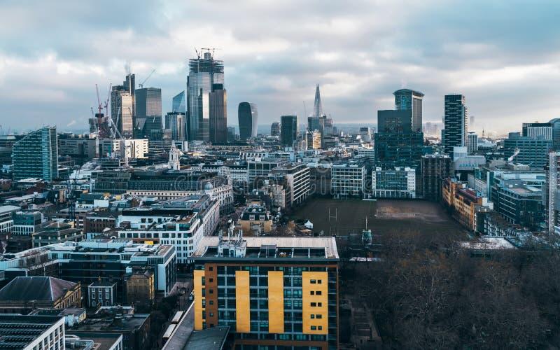 伦敦市财政区地平线 免版税库存照片