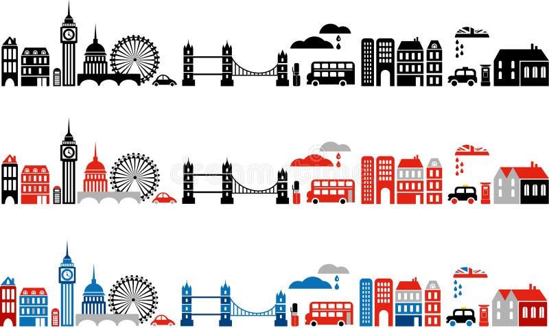伦敦市- 2的向量例证 库存例证