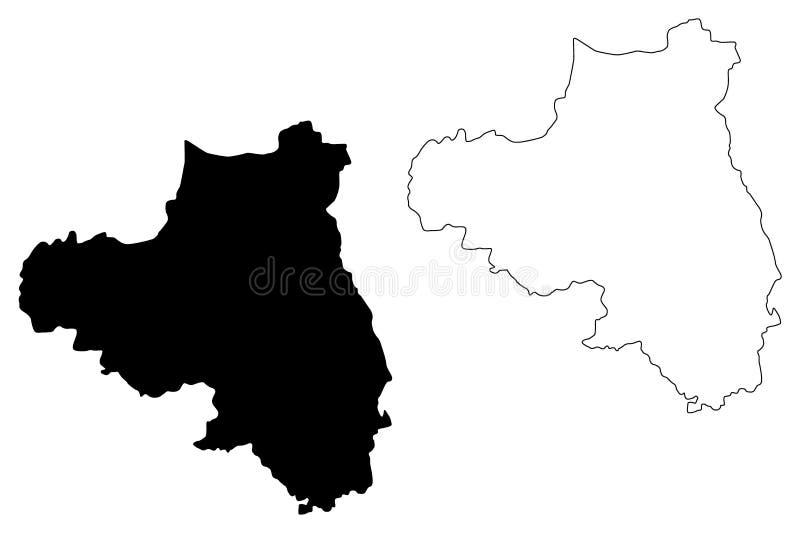 伦敦德里郡地图传染媒介 皇族释放例证