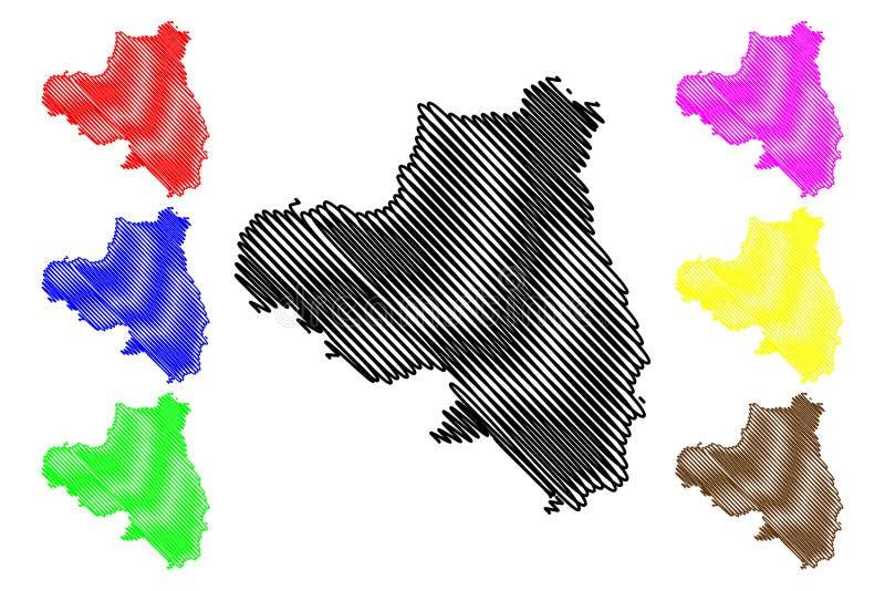 伦敦德里郡地图传染媒介 向量例证