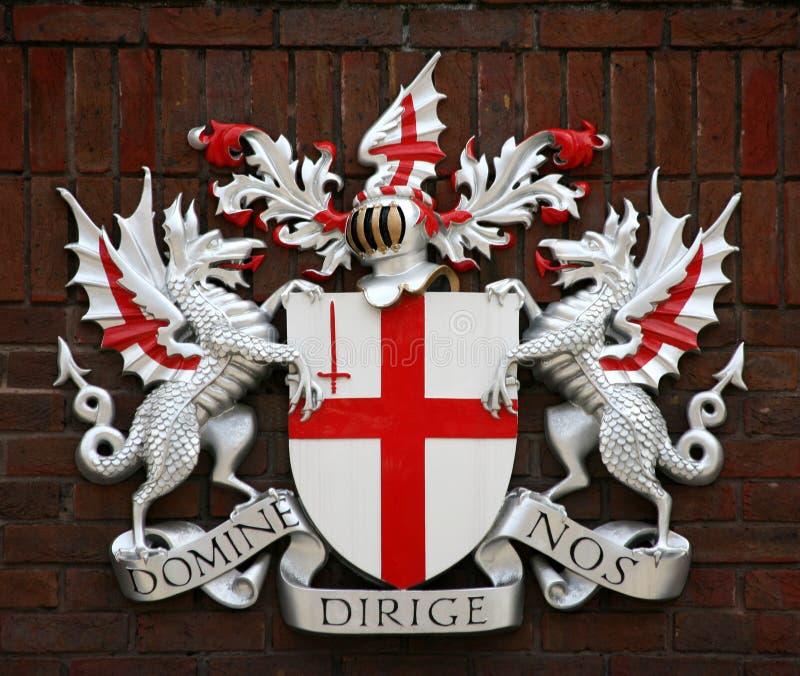 伦敦徽章城市 库存照片