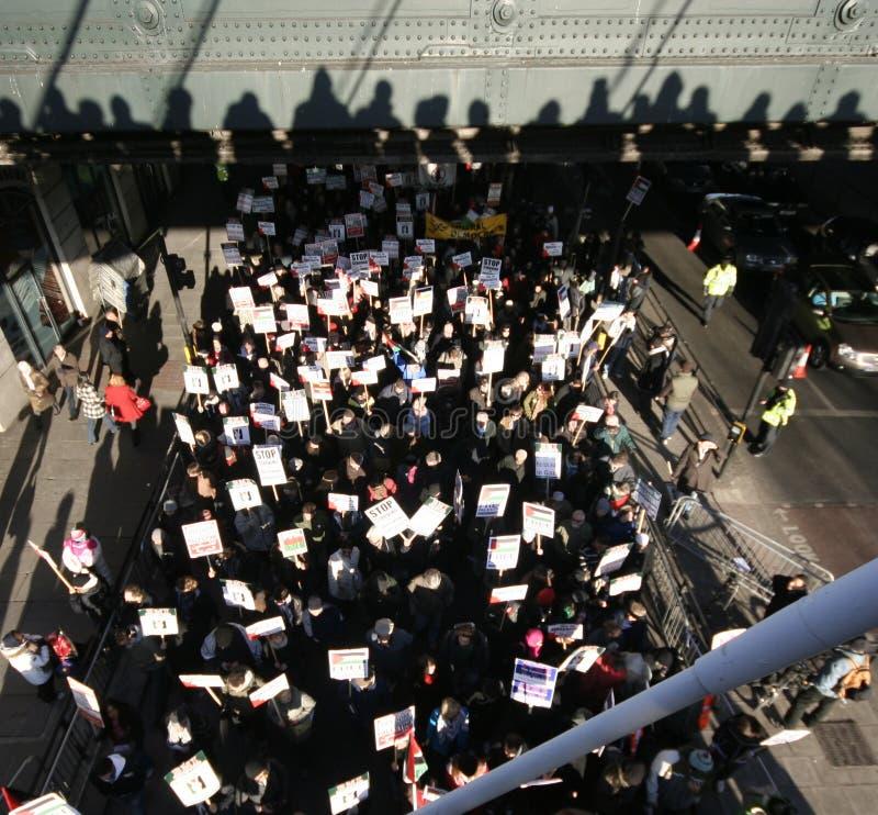 伦敦抗议者 库存图片