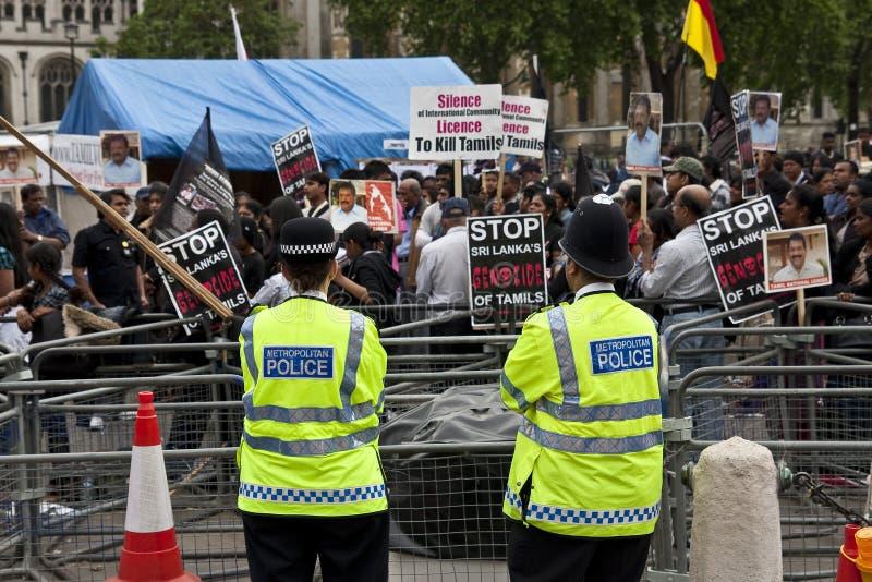 伦敦拒付泰米尔语 库存图片