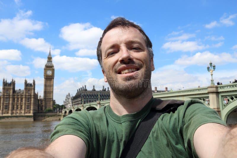 伦敦旅行selfie 免版税库存照片