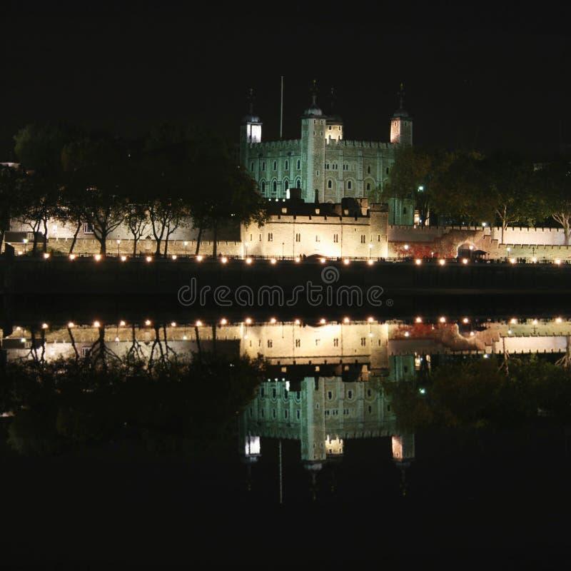 伦敦晚上塔 库存照片