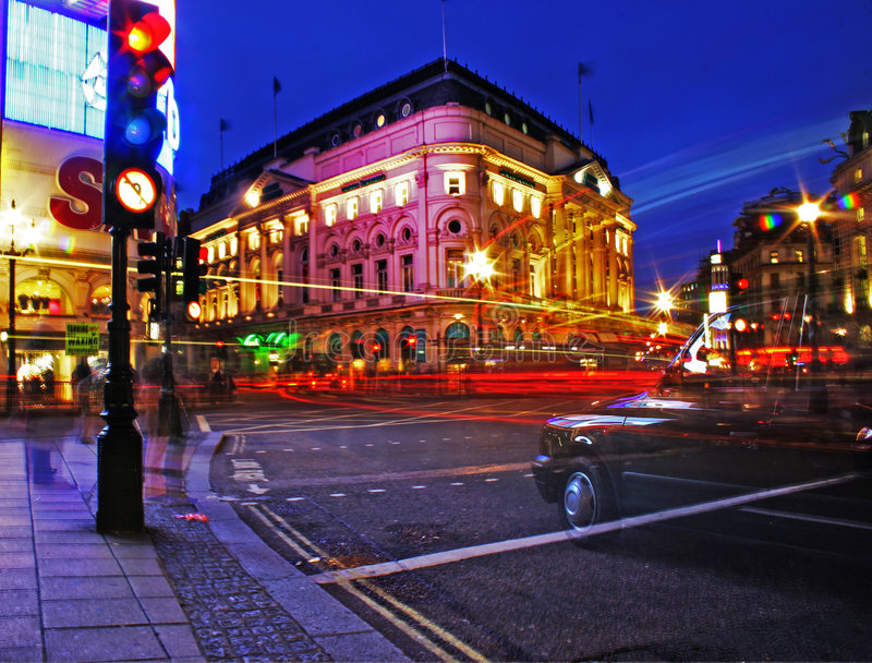 伦敦晚上 免版税库存图片