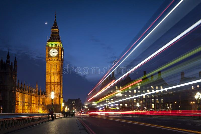 伦敦晚上 图库摄影